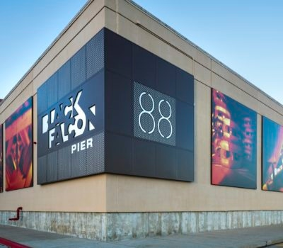 Exterior signage for 88 Black Falcon in Boston Massachusetts