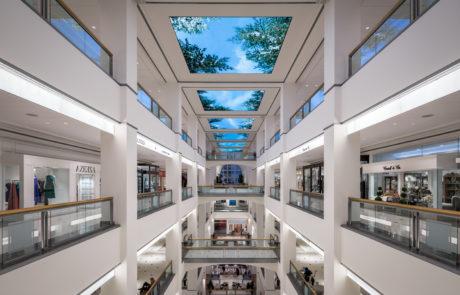 Interior digital canopy for 900 N Michigan in Chicago Illinois