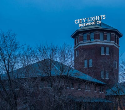 Exterior face lit channel letters for City Lights Brewing Co in Milwaukee Wisconsin