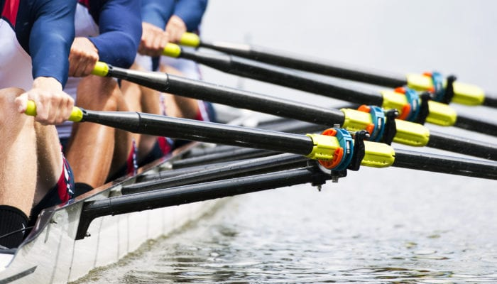 Team rowing image