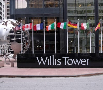 Exterior letters for Willis Tower in Chicago Illinois
