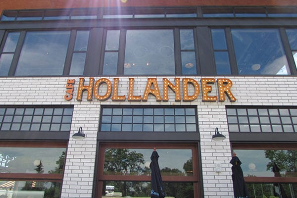Exterior face lit signage for Cafe Hollander in Mequon Wisconsin
