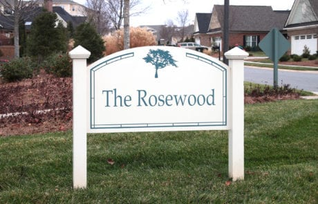 Exterior post and panel sign for the Cypress of Raleigh in Raleigh North Carolina