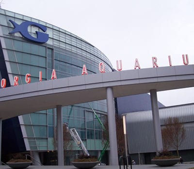 Exterior letters and logo for Georgia Aquarium in Atlanta Georgia
