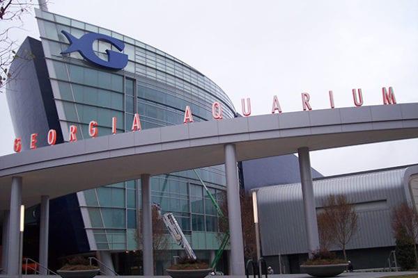 Exterior letters and logo for Georgia Aquarium in Atlanta Georgia