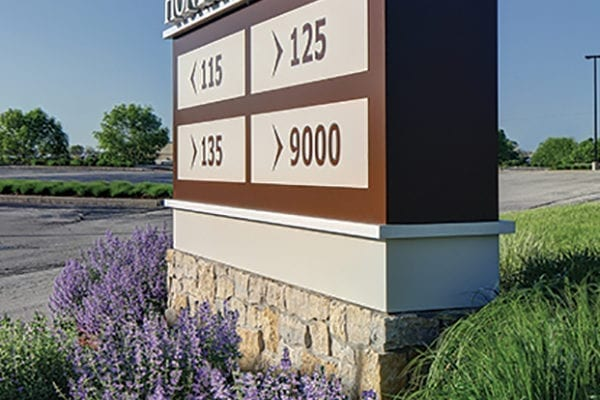 Exterior monument sign for Honey Creek Parkway in Milwaukee Wisconsin