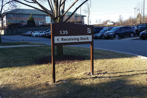 Exterior post and panel sign for Honey Creek Parkway in Milwaukee Wisconsin