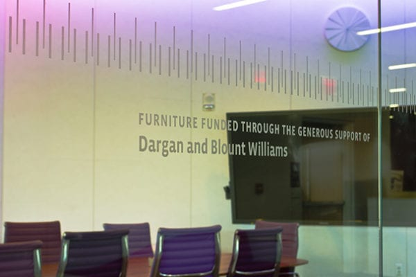 Interior signage for NCSU Hunt Library in Raleigh North Carolina