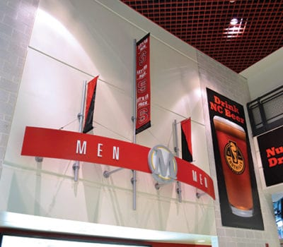 Interior signage for PNC Arena in Raleigh North Carolina