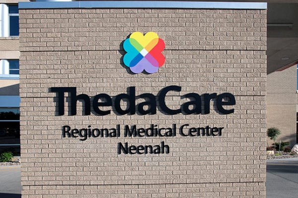 Exterior sign for Thedacare in Wisconsin