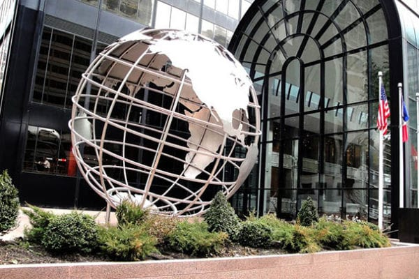 Exterior specialty fabrication globe for Willis Tower in Chicago Illinois