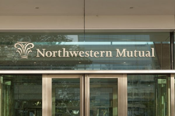 Exterior letters for Northwestern Mutual in Milwaukee Wisconsin