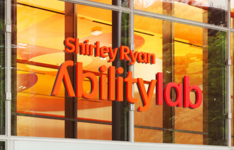 Interior letters for Shirley Ryan AbilityLab in Chicago Illinois