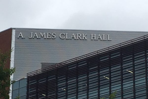 Exterior channel letters for UMD A. James Clark School of Engineering