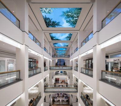 Interior digital canopy for 900 N Michigan in Chicago Illinois