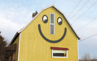 Exterior aluminum sign for Smiley Barn in Delafield Wisconsin