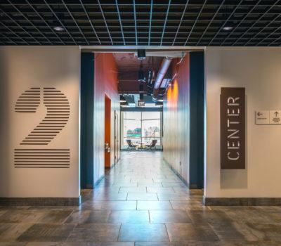 Interior signage for 88 Black Falcon in Boston Massachusetts