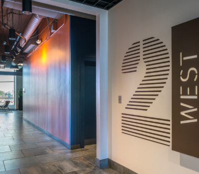 Interior signage for 88 Black Falcon in Boston Massachusetts