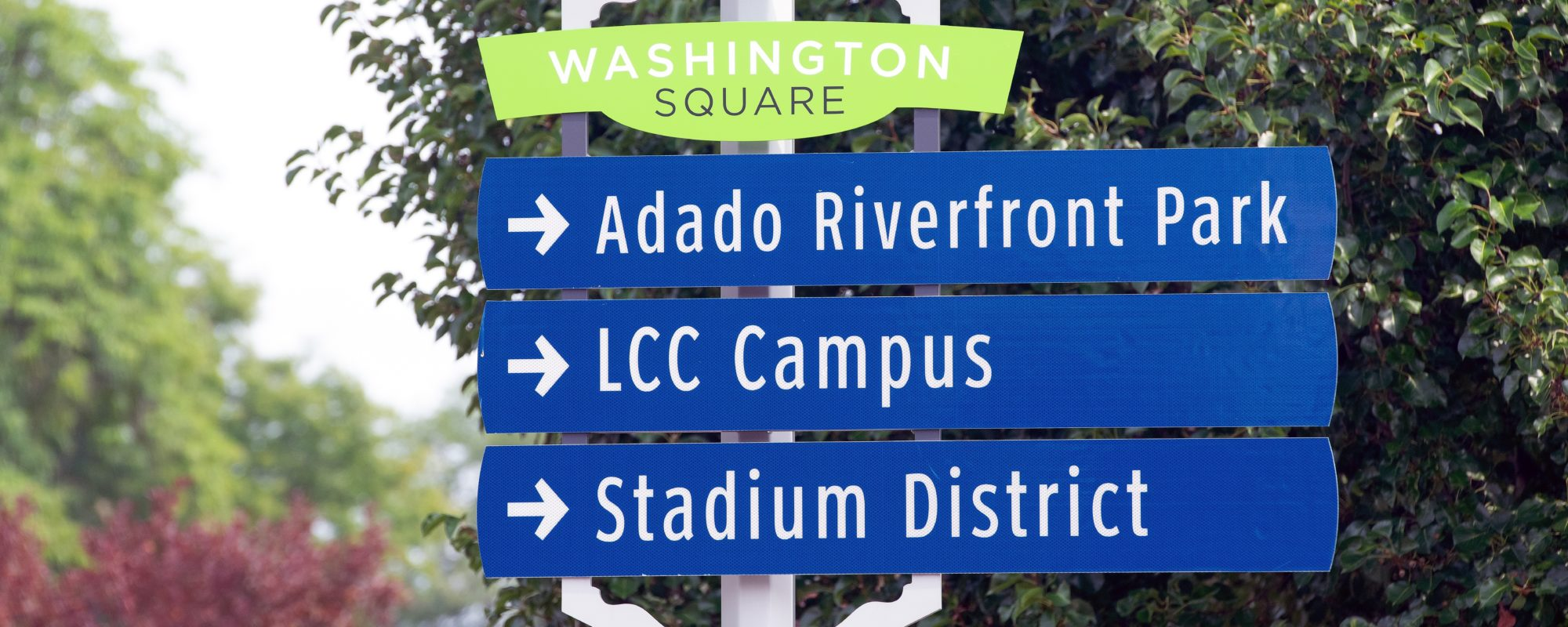Wayfinding signage for Downtown Lansing Michigan