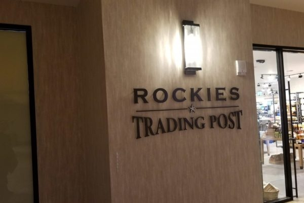 Interior sign at Gaylord Rockies Resort in Aurora Colorado