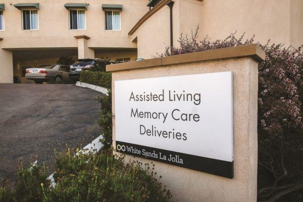 Exterior sign for White Sands in La Jolla California