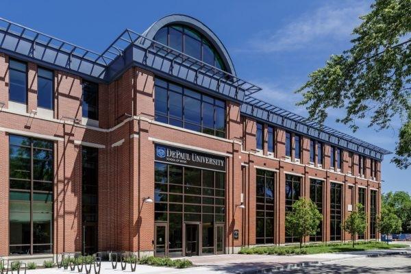 DePaul University School of Music Exterior sign in Chicago Illinois