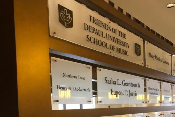 Friends of the Depaul University School of Music Sign