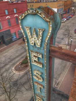 Old West Bend Theatre sign