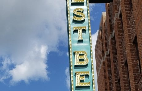 West Bend Theatre blade sign