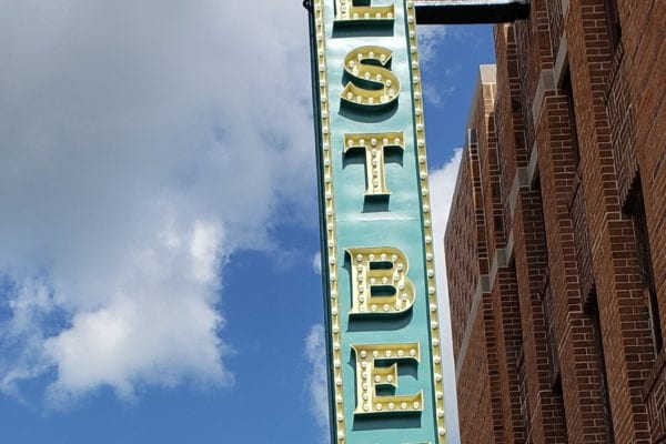 West Bend Theatre blade sign