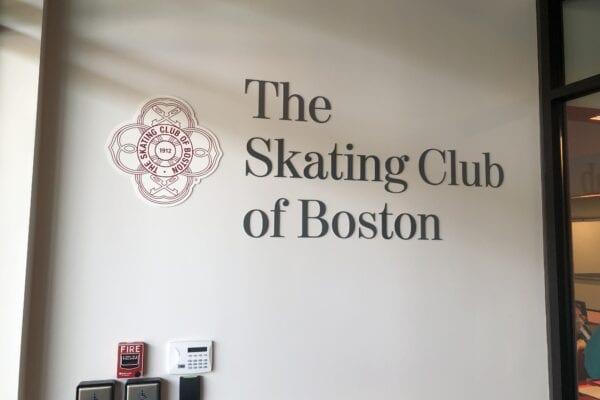 Skating Club of Boston signage